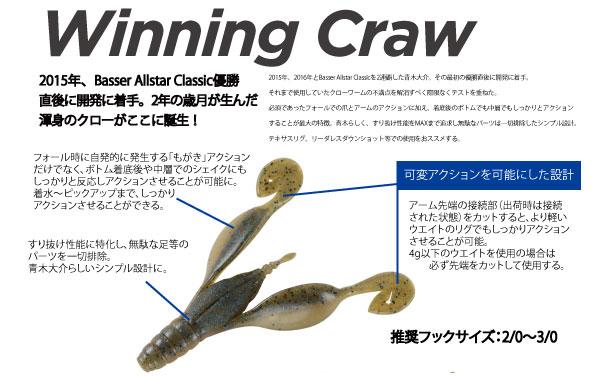ウイニング クロー 3.6インチ [Winning Craw 3.6 inch]詳細