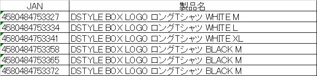 DSTYLE BOX LOGO ロングTシャツ詳細