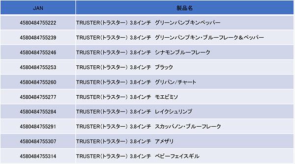TRUSTER 3.8″(トラスター3.8″)詳細