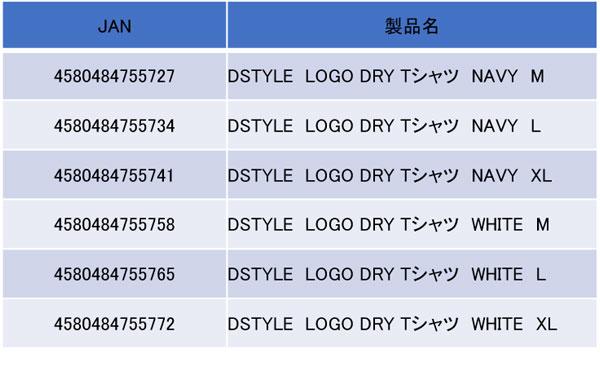 DSTYLE LOGO DRY Tシャツ(2019年6月発売予定)詳細