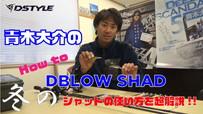 青木大介のHow to DBLOW SHAD 冬のシャッドの使い方を超解説!!