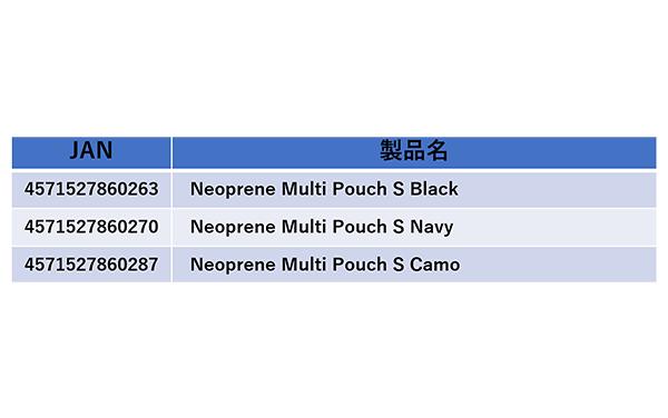 Neoprene Multi Pouch S詳細